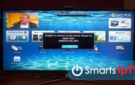 Ошибка error exe 001 на Samsung Smart TV: причины, как устранить?