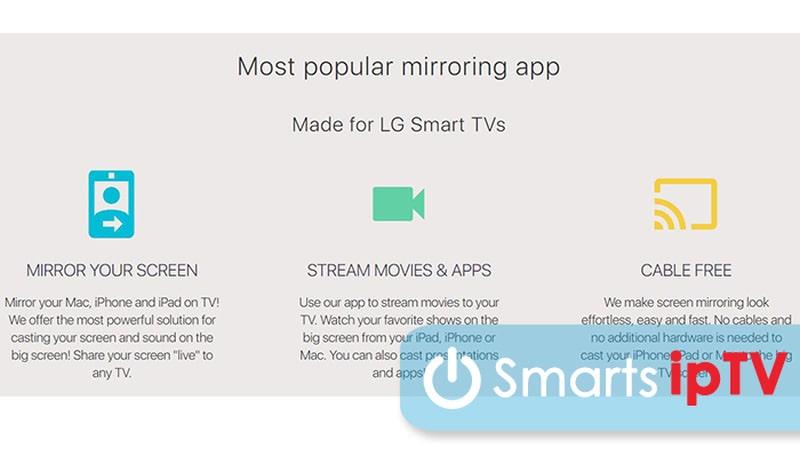 как подключить айфон к телевизору lg smart tv